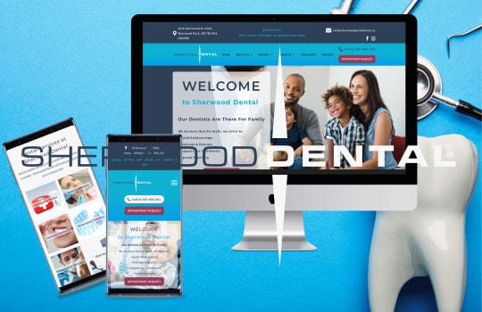Sherwood Dental: Re-designing a website for dental practice